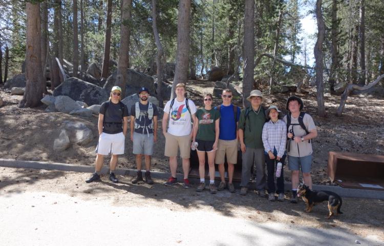 Hiking at Huntington Lake, June 2015
