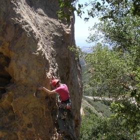 Rock climbing in the Santa Ynez Mountains