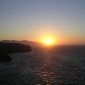 Sunset from Santa Cruz Island